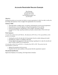 accounts receivable skills resume resume ideas