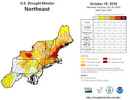 Map Of The Northeast Northeast Regional Drought Map Fall 2016 U S Climate