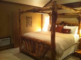 Log Queen Bed Frame Bed Frame Canopy Log Bed Frame Bed Frames