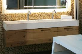 Trough Bathroom Sink With Two Faucets by Sink Faucet Design No Room Trough Bathroom Sink For A Double