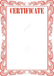 certificate frame certificate frame isolated on the white background royalty free