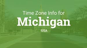 Usa Time Zones Map by Time Zones In Michigan United States