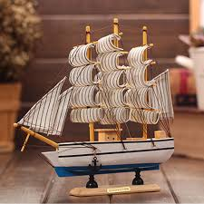 boat decor for home wooden ship model nautical decor home crafts figurines miniatures