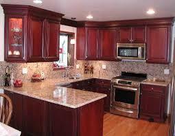 cherry kitchen ideas modern gray granite countertops with cherry cabinets kitchen