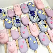 funny popsicle ice cream pig star flowers fleurs étoile shaun teo