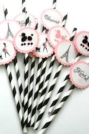 parisian baby shower 12 party straws birthday theme parisian