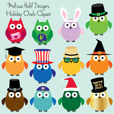 free holiday owl clipart collection