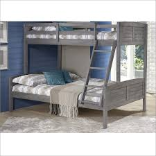 Kids Twin Over Full Louver Bunk Bed In Antique Grey By Donco TTAG - Donco bunk beds