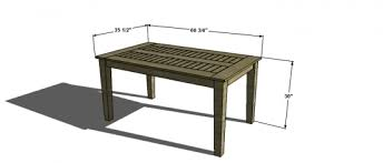 Free Woodworking Plans For Outdoor Table by Free Woodworking Plans To Build A Potterybarn Inspired Chesapeake
