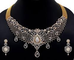 designer diamond sets 4 diamond wedding necklace set jpg