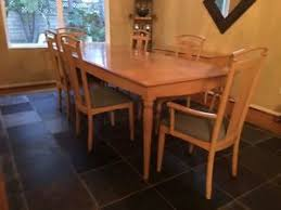 ethan allen table chairs ethan allen light maple dining table chairs and console table 6