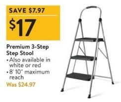 walmart black friday premium 3 step step stool for 17 00