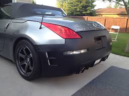 nissan 350z rear bumper 2006 front and chargespeed replica rear on 2004 my350z com