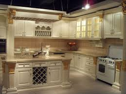 Wall Mounted Cabinet With Glass Doors by Elegant Beige Color Rona Kitchen Cabinets Features Double Door