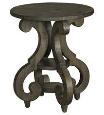 Table With Shelves Magnussen Home Bellamy Round Accent End Table With Shelves