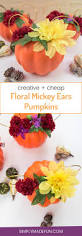 creative cheap floral mickey ears pumpkin