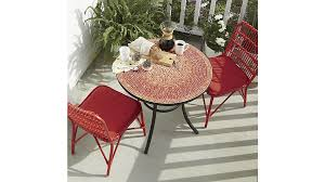 Mosaic Dining Room Table Dining Room Red Mosaic Bistro Table With Red Chairs For Home
