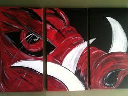 3 canvas set arkansas razorbacks razorback art pinterest