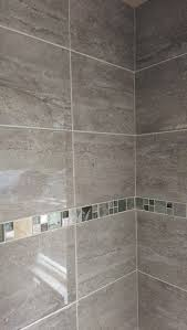 30m2 parallel travertine effect gloss grey ceramic wall tile deal