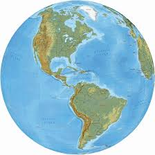 america map in and south america political map and globe