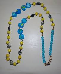 yellow turquoise necklace images Long yellow turquoise necklace shes crafty avl jpg