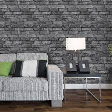 Living Room Ideas Gold Wallpaper Grey Brick Effect Wallpaper Google Search Zal Pinterest