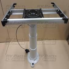 rv table pedestal adjustable nuova mapa adjustable table leg with turntable and sliding system
