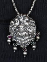 necklace silver india images Pendants goddess lakshami silver pendant by jewels india jaypore jpg