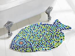 Blue Bath Mat Fish Bath Mat Nujits Com