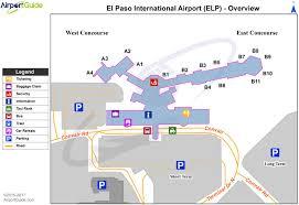 Charlotte Airport Gate Map El Paso Airport Map El Paso Airport Terminal Map Texas Usa