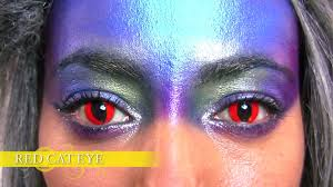 red cat eye contact lenses youtube
