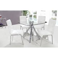 Black And White Kitchen Chairs - chrome kitchen u0026 dining room sets you u0027ll love wayfair