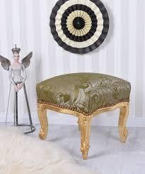 Barock Esszimmer Ebay Sitzhocker Vintage Hocker Gold Grün Sitzbank Schemel Fussbank