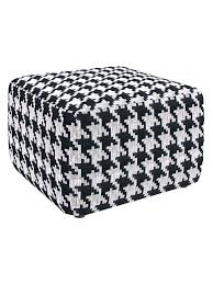 Ottoman With Shelf by Furniture Simple Ideas Of Houndstooth Ottoman For Living Room