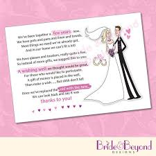 gift card bridal shower wording wedding invitation wording pay for own meal instead of gift
