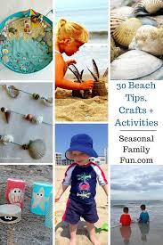 beach activities crafts tips