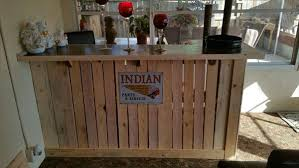 Wooden Bar Table Diy Wooden Pallet Bar Table Pallet Furniture Plans