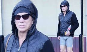 Mickey Rourke News Newslocker - the full package movie hunk mickey rourke shows off bulge in very