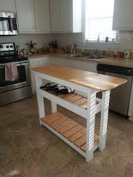 kitchen island table with wine rack organizer outofhome