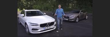 jaguar xf vs lexus is volvo s90 vs jaguar xf vs ford mondeo vignale video group test