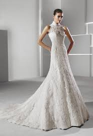 wedding dresses high high neck lace wedding dress luxury brides