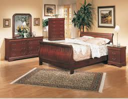 Cherry Bedroom Furniture Set Bedroom Classic Deep Cherry Finish Elegant 5pc Bedroom Set