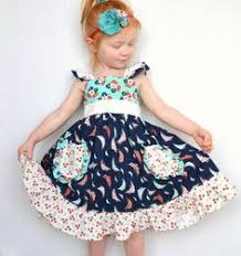 toddler twirl dress nautical dress 3t flutter by girlwithatwirl