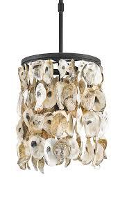 Oyster Chandelier Black Iron Round Shell Pendant The Designer Insider