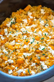 cooker risotto with butternut squash and goat cheese