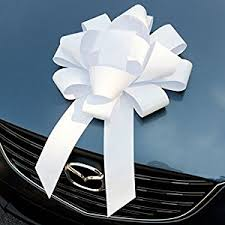 big bow for car present white car bow big magnetic bows for cars large