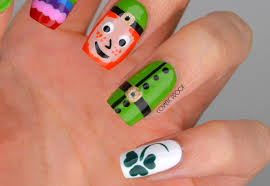 nails happy st patrick u0027s day with some luck from the irish