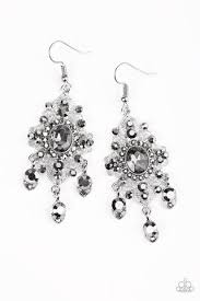 must earrings must be royal silver earrings paparazzi accessories 5 00