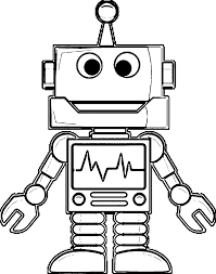 30 robot coloring pages coloringstar