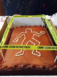 Decorating Cakes At Home Costco Chocolate Sheet Cake Decorated At Home For A Crime Scene